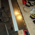 Cutting panels with a sabre saw